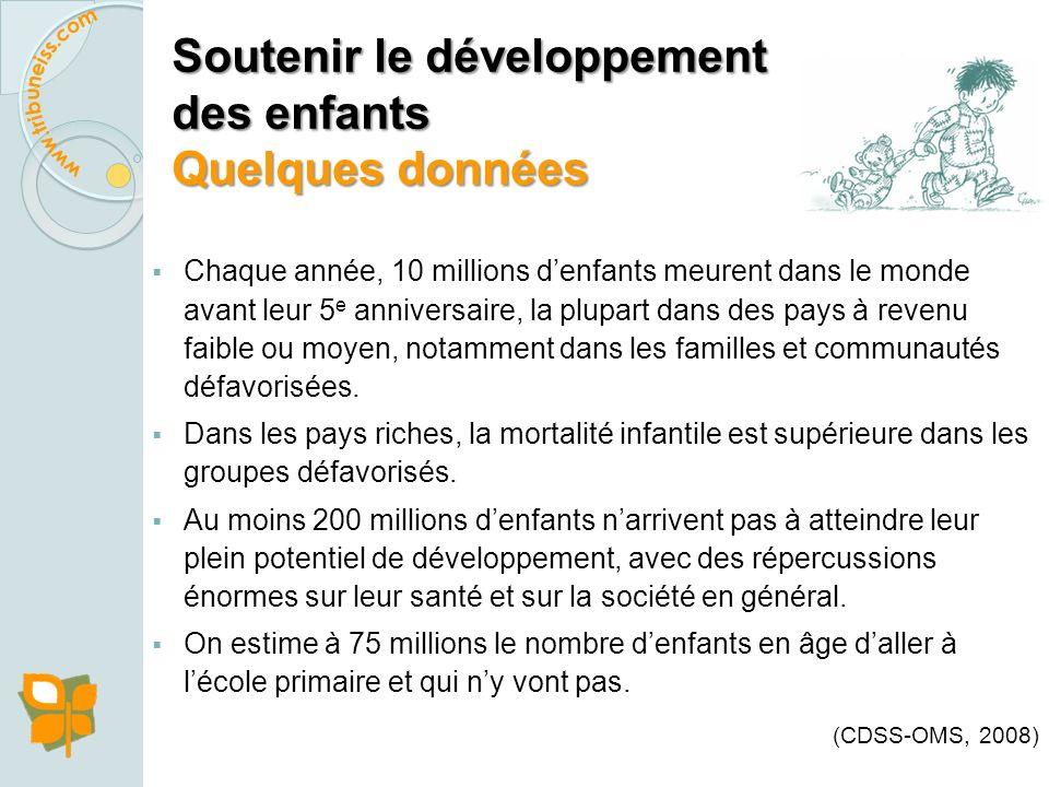 Soutenir le développement des enfants Pourquoi?