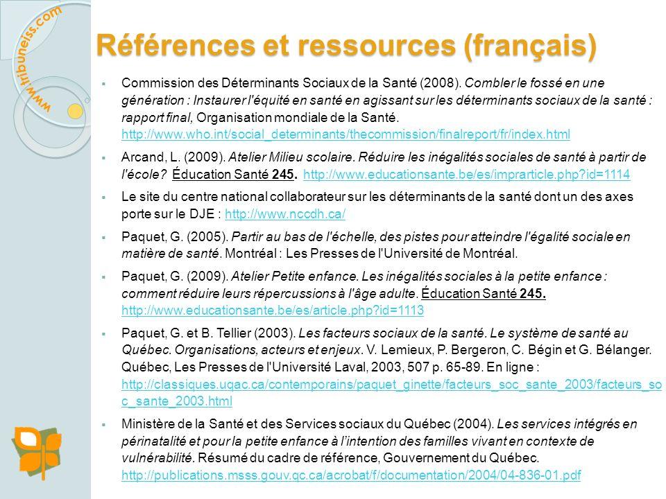 Références et ressources Références et ressources Avis juridique sur lutilisation des documents Avis juridique sur lutilisation des documents Remercie