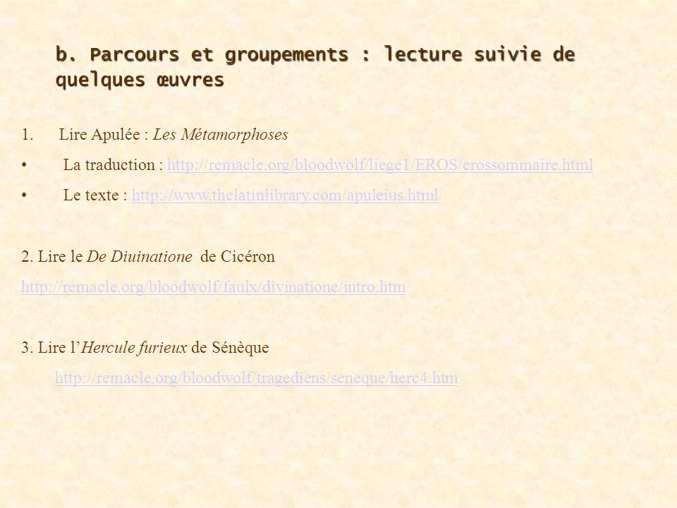 b.Parcours et groupements : les entrées thématiques 1.