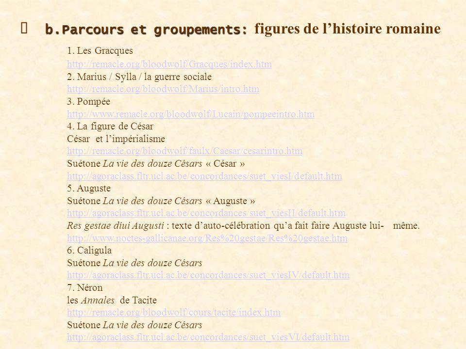 b.Parcours et groupements: les parcours thématiques sur Louvain b.Parcours et groupements: les parcours thématiques sur Louvain