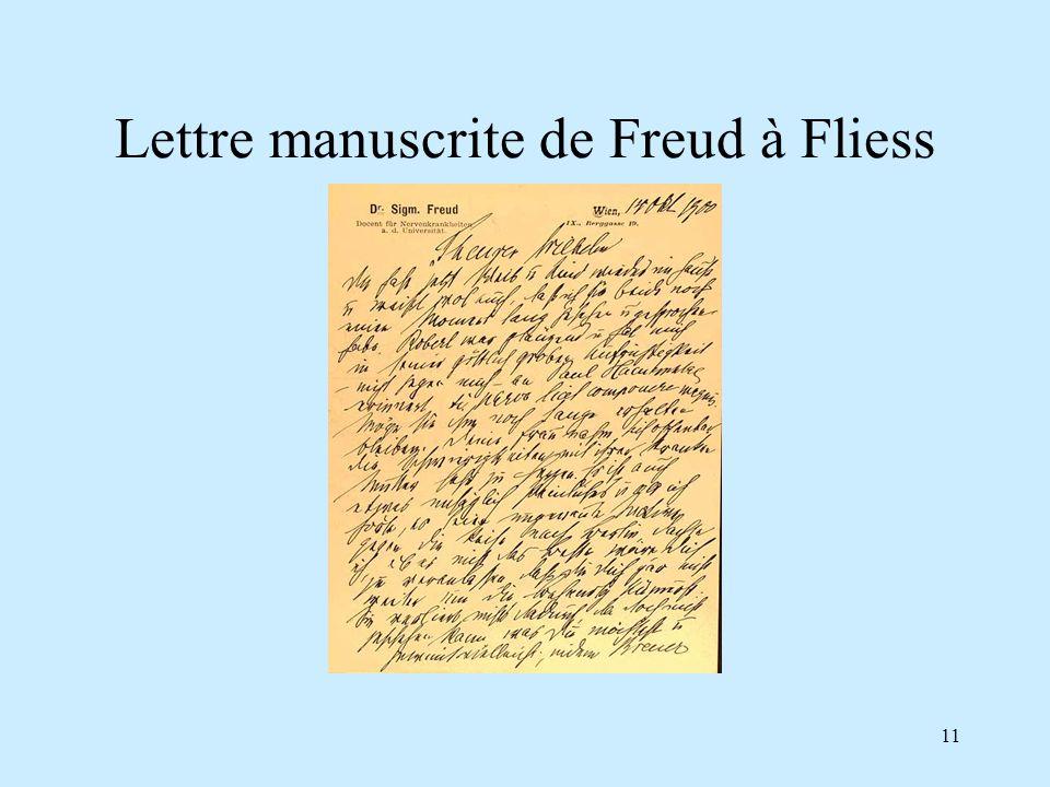 11 Lettre manuscrite de Freud à Fliess