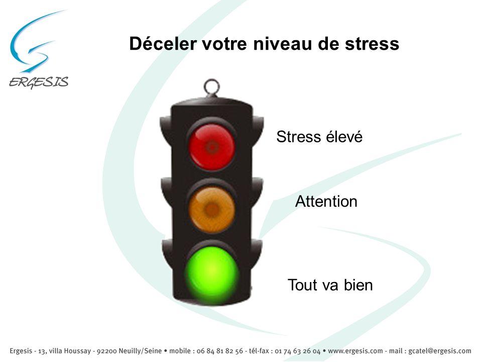 Déceler votre niveau de stress Tout va bien Stress élevé Attention