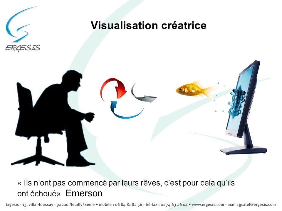 Visualisation créatrice « Ils nont pas commencé par leurs rêves, cest pour cela quils ont échoué» Emerson