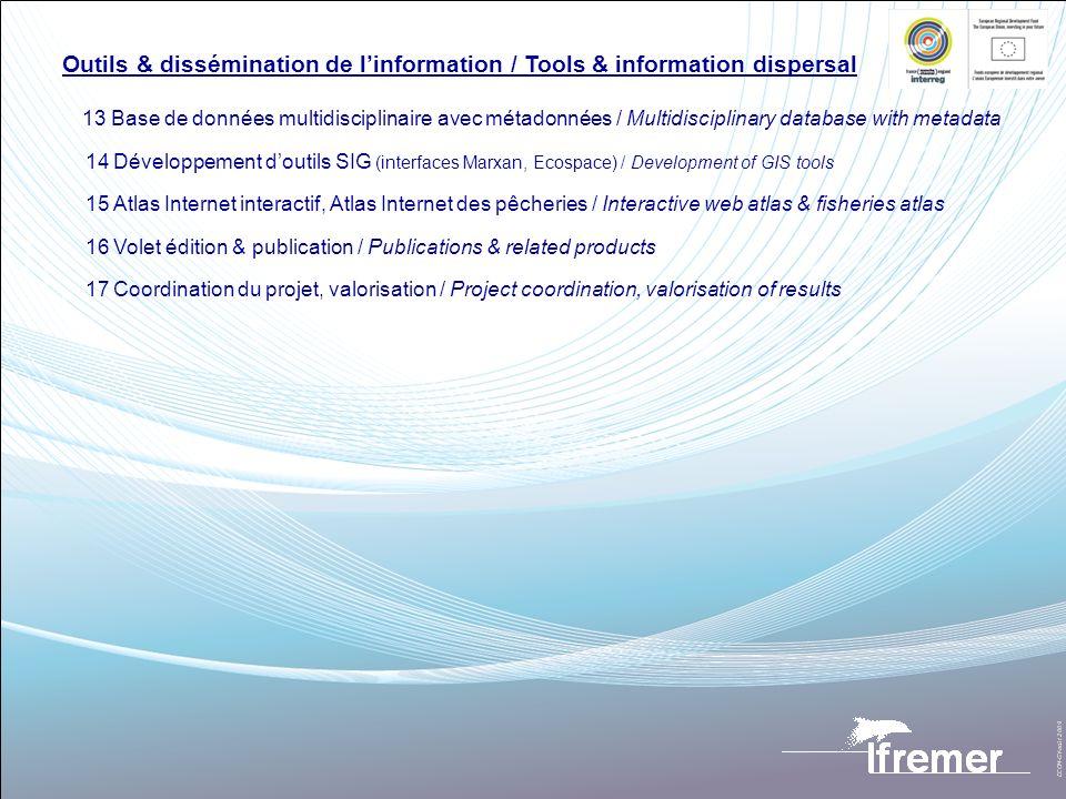 Outils & dissémination de linformation / Tools & information dispersal 13 Base de données multidisciplinaire avec métadonnées / Multidisciplinary data