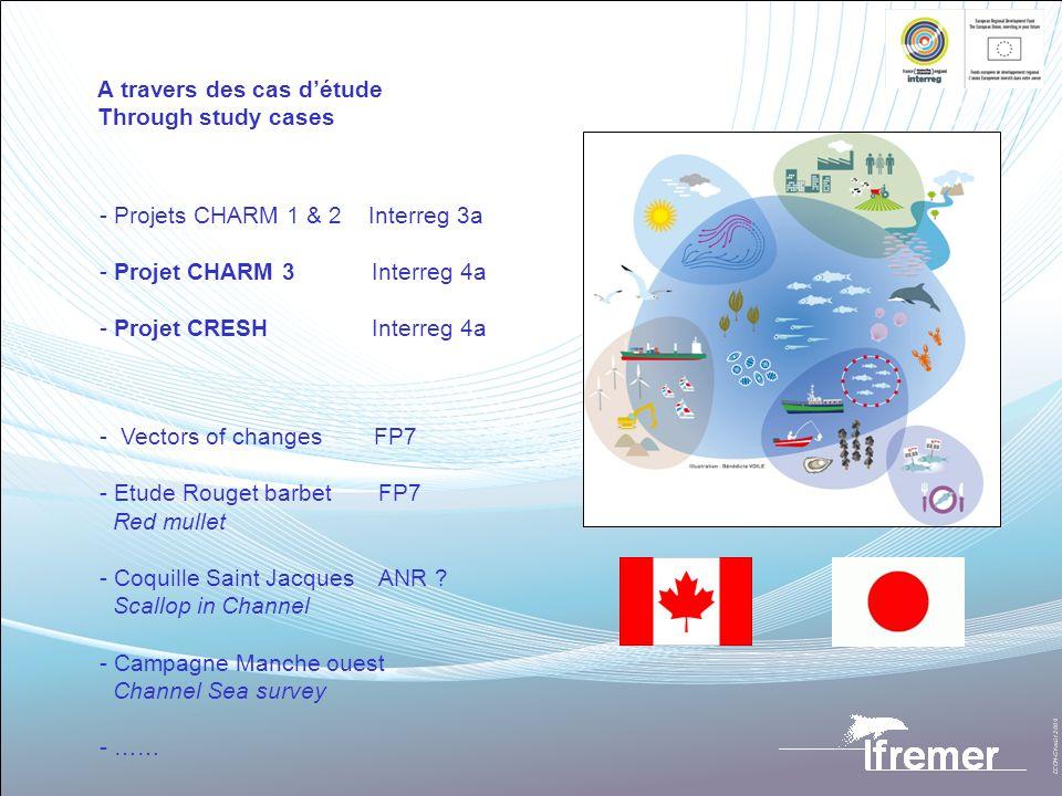 A travers des cas détude Through study cases - Projets CHARM 1 & 2 Interreg 3a - Projet CHARM 3 Interreg 4a - Projet CRESH Interreg 4a - Vectors of ch