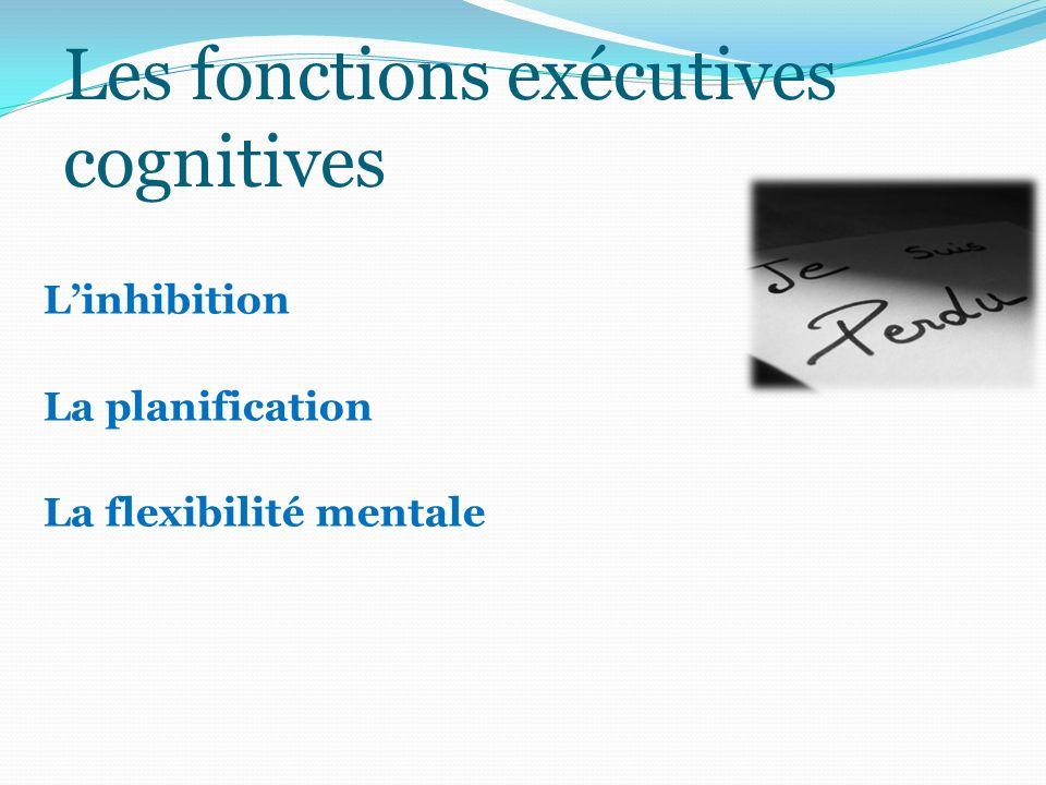 Les fonctions exécutives cognitives Linhibition La planification La flexibilité mentale