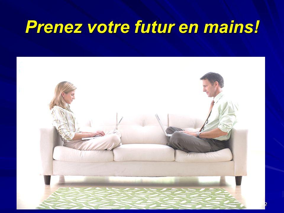 Janvier 2005 Serida Marketing Group 2 Prenez votre futur en mains!