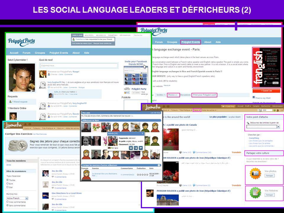 LES SOCIAL LANGUAGE LEADERS ET DÉFRICHEURS (2)