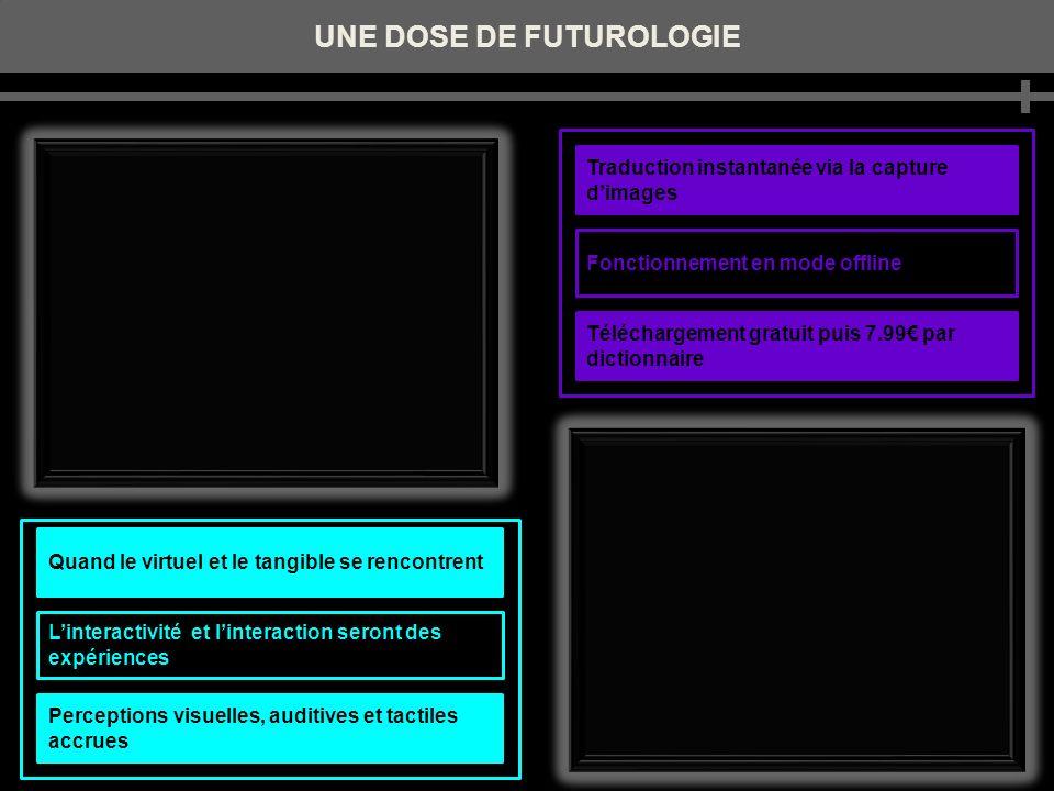 UNE DOSE DE FUTUROLOGIE Traduction instantanée via la capture dimages Fonctionnement en mode offline Téléchargement gratuit puis 7.99 par dictionnaire