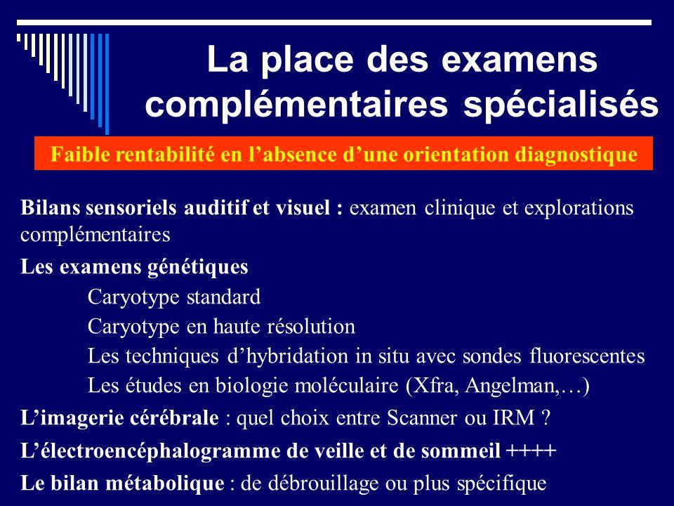 Monaco 9 nov 2012 La place des examens complémentaires spécialisés Bilans sensoriels auditif et visuel : examen clinique et explorations complémentair