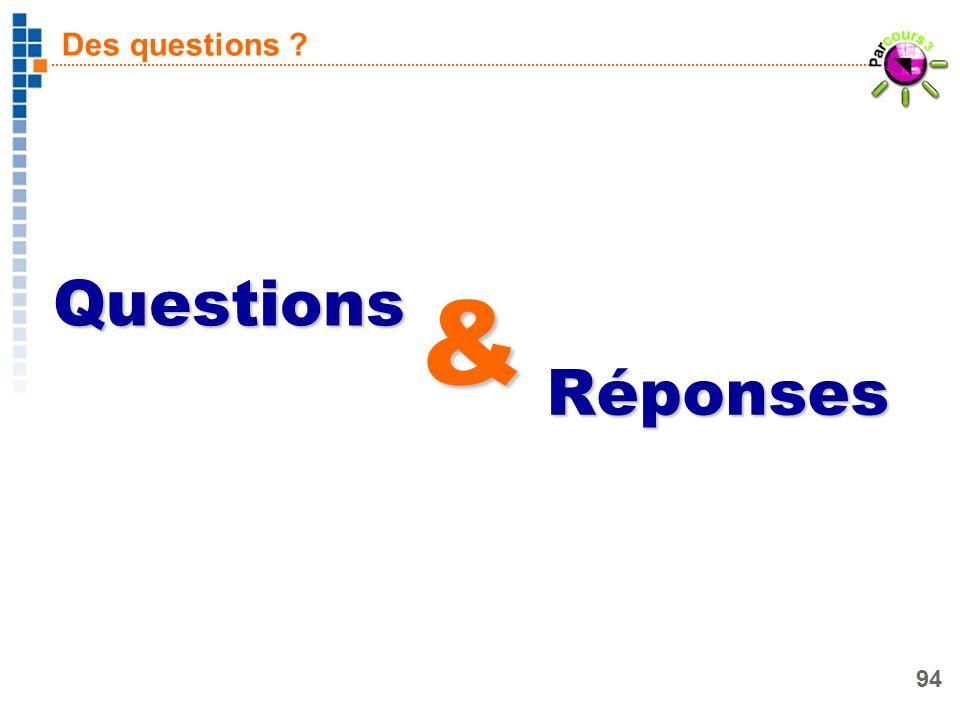 94 Des questions ? Questions Réponses &