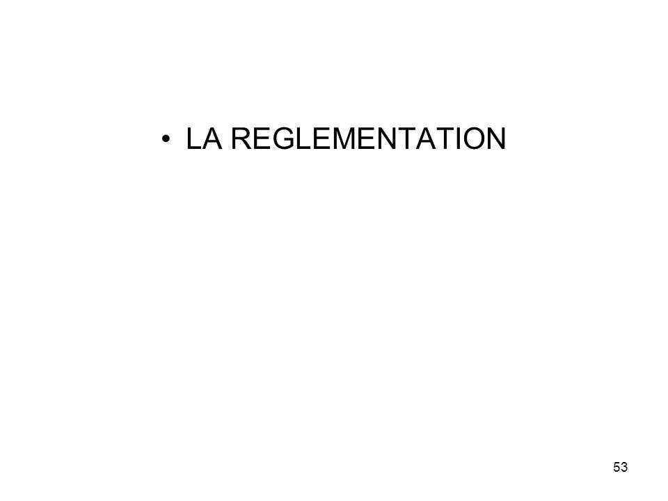 53 LA REGLEMENTATION