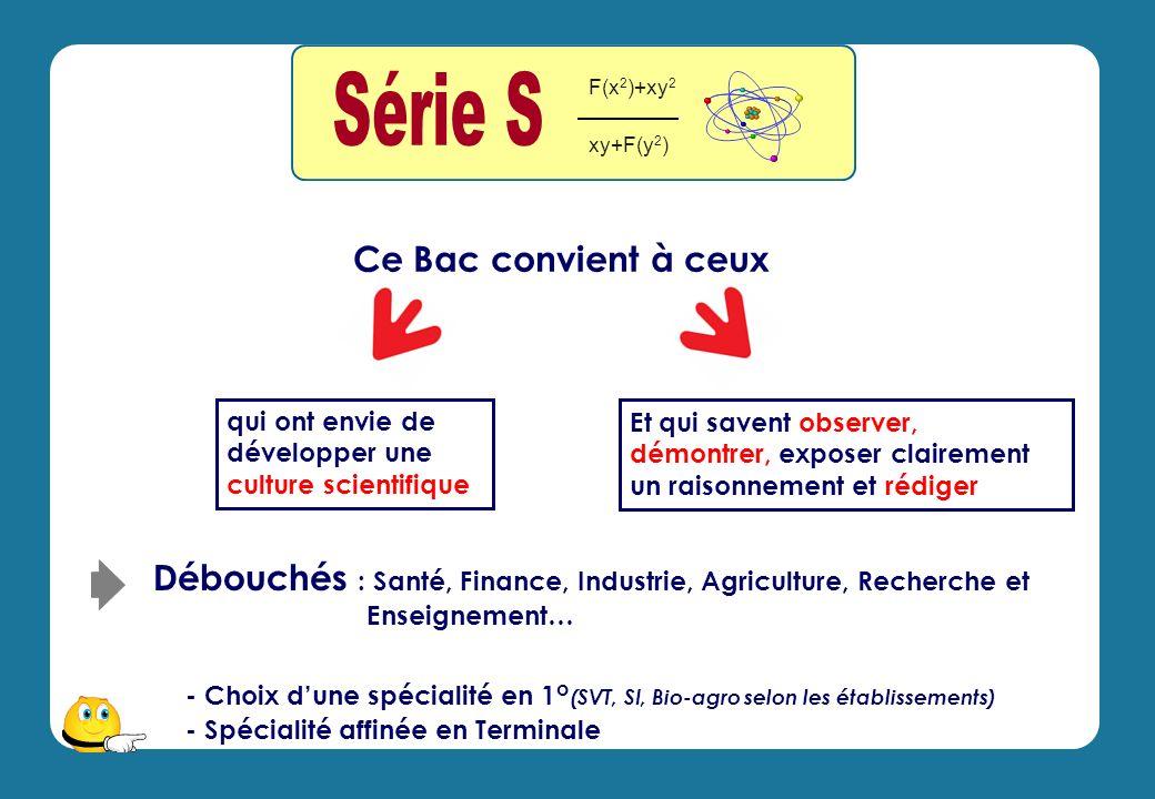 qui ont envie de développer une culture scientifique - Choix dune spécialité en 1° (SVT, SI, Bio-agro selon les établissements) - Spécialité affinée e