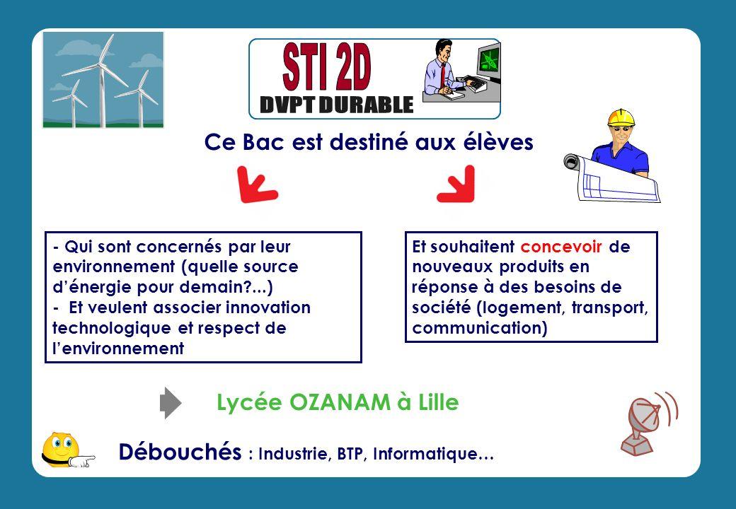 - Qui sont concernés par leur environnement (quelle source dénergie pour demain?...) - Et veulent associer innovation technologique et respect de lenv