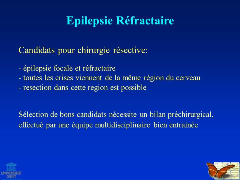 Bilan Préchirurgical - de la zone épileptogène - des zones indispensables = cortex éloquent Bût = localisation