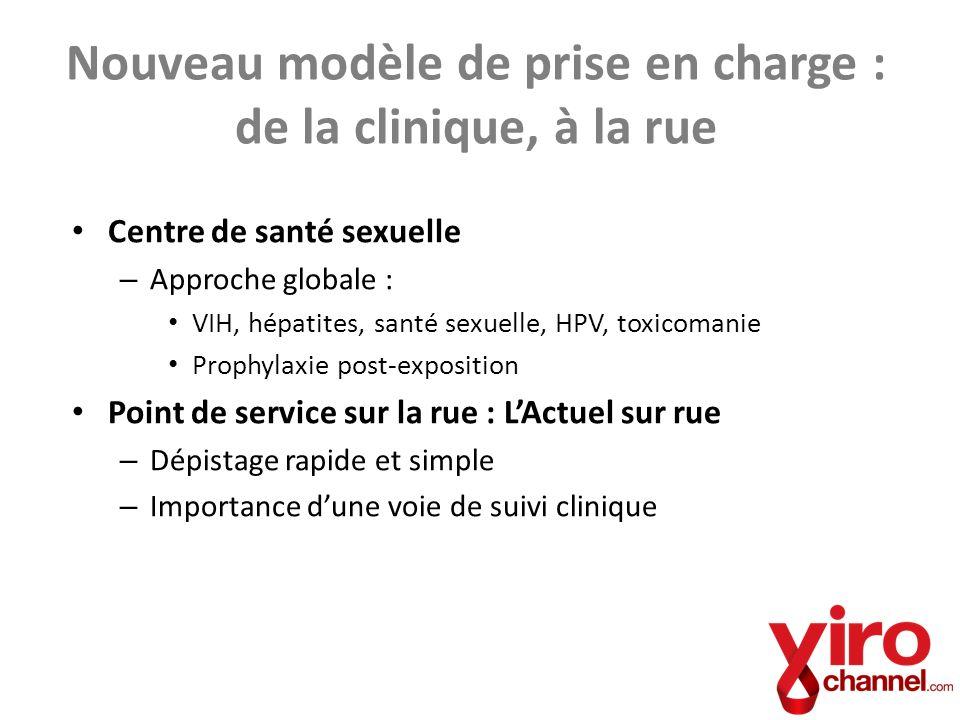 Centre de santé sexuelle – Approche globale : VIH, hépatites, santé sexuelle, HPV, toxicomanie Prophylaxie post-exposition Point de service sur la rue