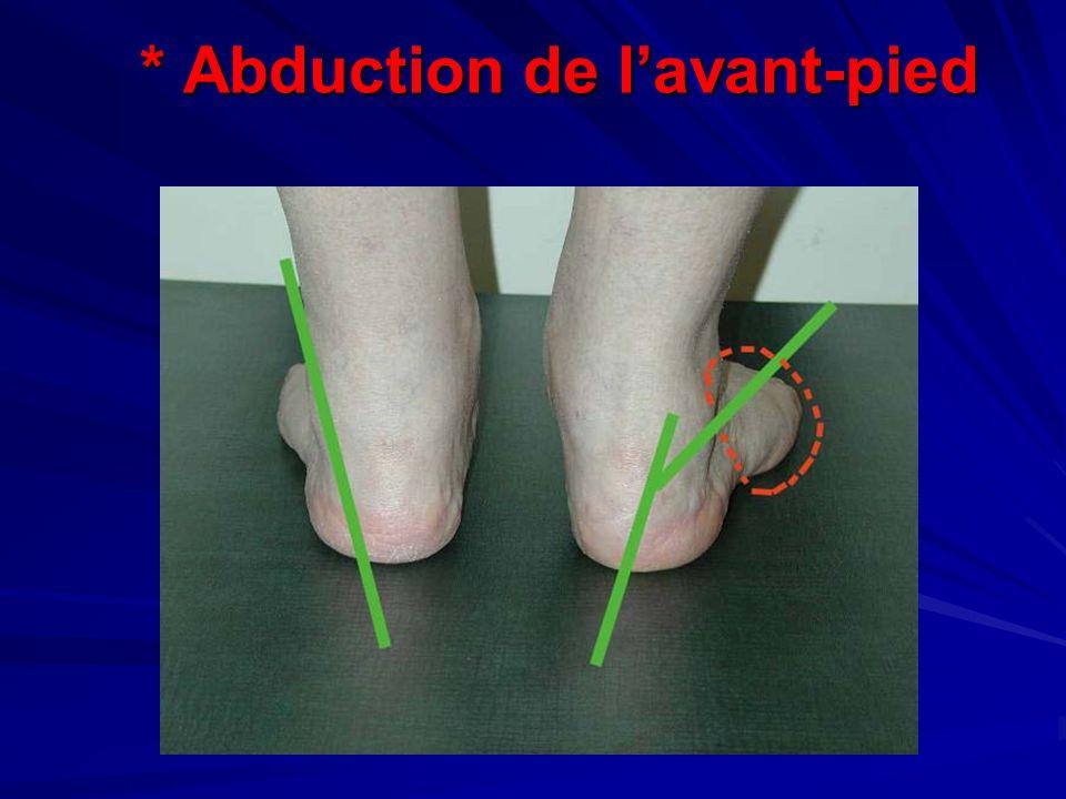 * Abduction de lavant-pied