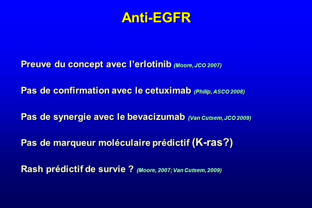 Expérience Franco-Belge Marechal R, Bachet JB, Mackey J et al, in press N at risk hENT1 low and any dCK 36301810653100000 hENT1 moderate and any dCK 106103876443281812107321 hENT1 high and dCK low 22 17141073333211 hENT1 high and dCK high 6966605447433025231916139