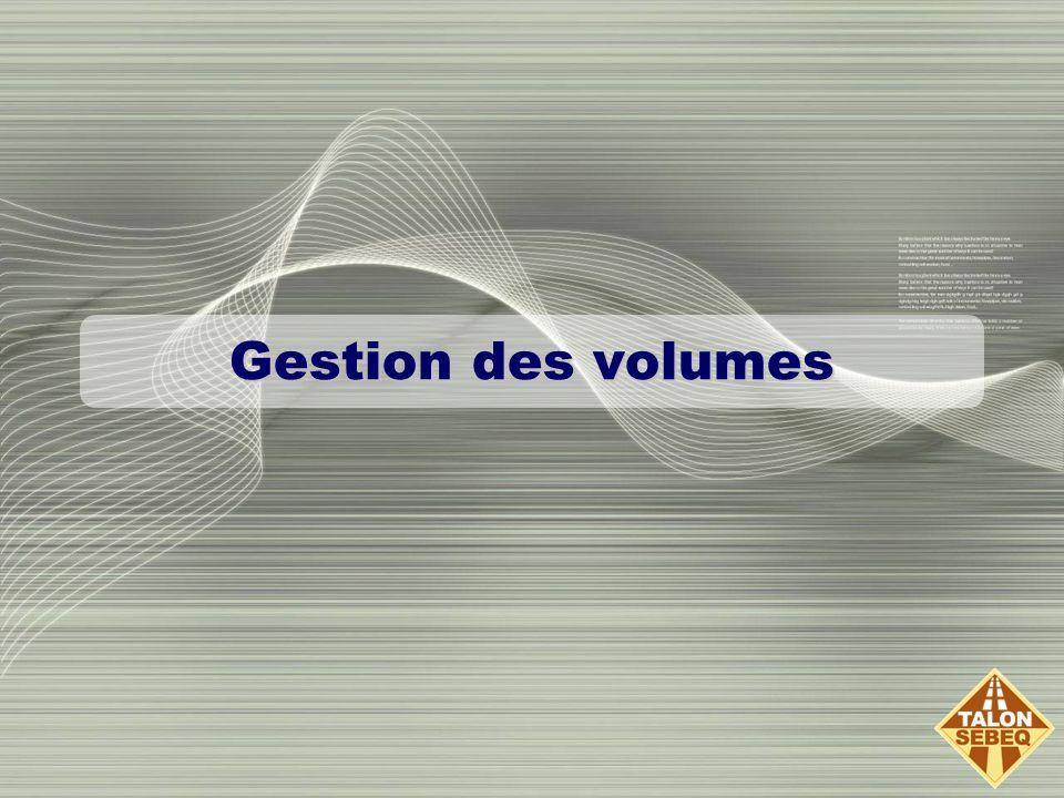 Gestion des volumes
