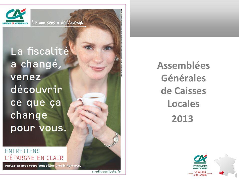04/11/2013 Crédit Agricole SA Distribution Assemblées Générales de Caisses Locales 2013