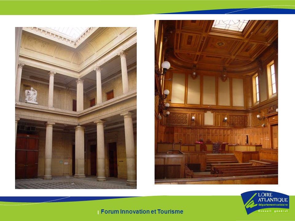 Depuis la rentrée 2005, le Conseil général a mené trois études de définition sur le devenir de lAncien Palais de Justice de Nantes avec les équipes suivantes : - Le Troisième Pôle - Maîtres du Rêve - BDO MG Hôtels & Tourisme 3 scénarios ont été proposés