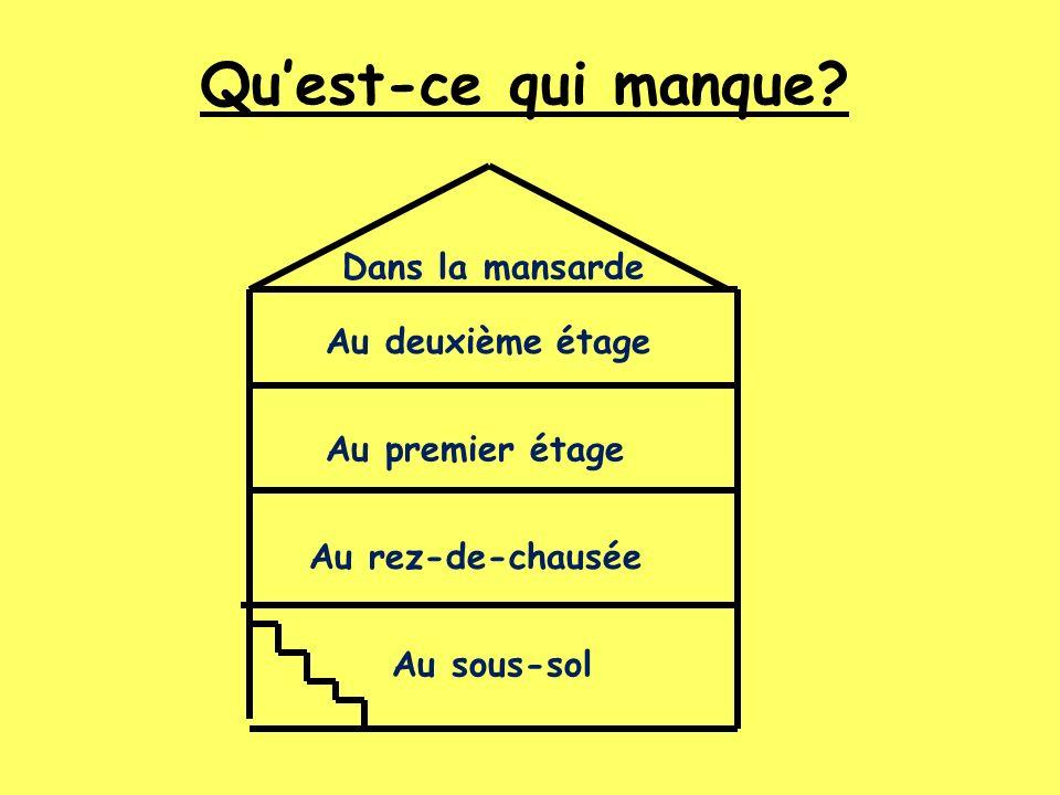 Une belle maison – Quest-ce quil manque.