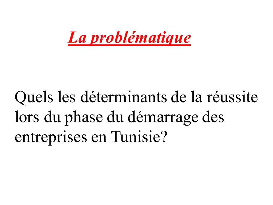 Quels les déterminants de la réussite lors du phase du démarrage des entreprises en Tunisie? La problématique