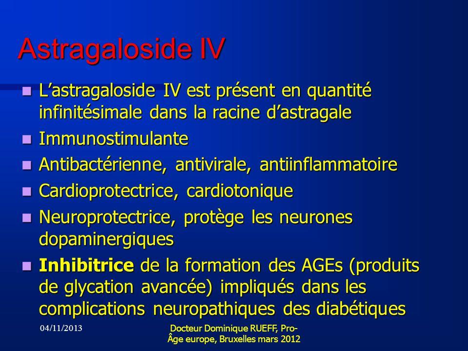 Astragaloside IV Lastragaloside IV est présent en quantité infinitésimale dans la racine dastragale Lastragaloside IV est présent en quantité infinité