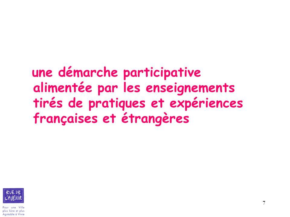 7 une démarche participative alimentée par les enseignements tirés de pratiques et expériences françaises et étrangères