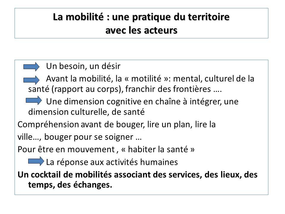 Nnn N nn Nnn Territoire A Territoire C Territoire D Territoire F Territoire B Territoire E Du transport à la mobilité « glocale »