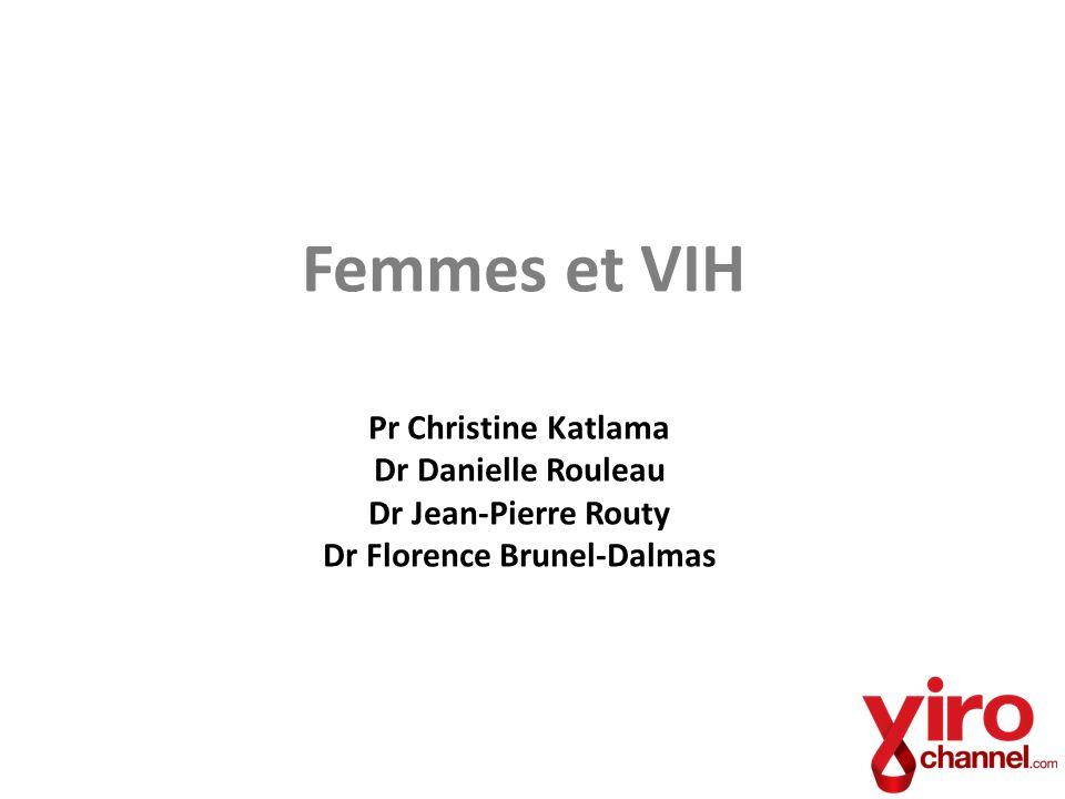 Femmes et VIH Pr Christine Katlama Dr Danielle Rouleau Dr Jean-Pierre Routy Dr Florence Brunel-Dalmas