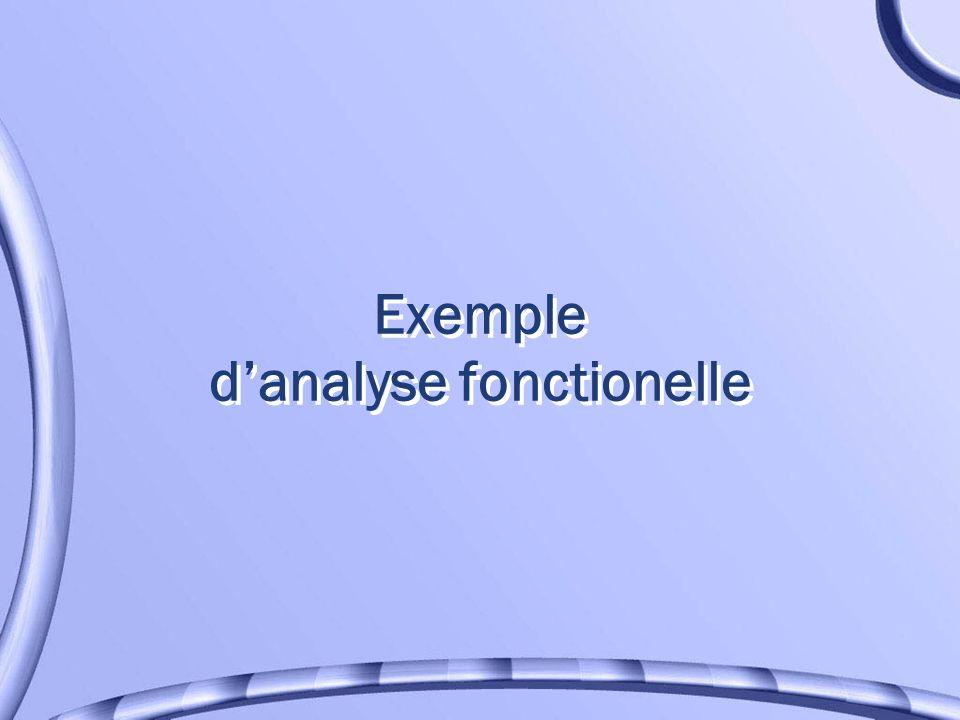 Exemple danalyse fonctionelle