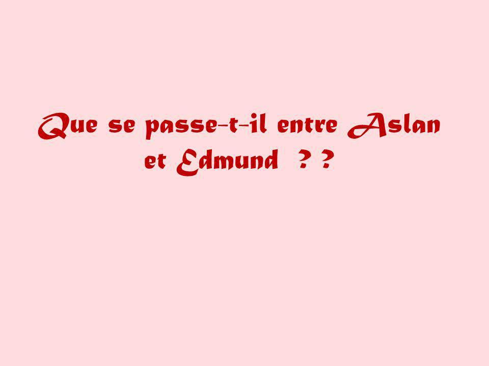Que se passe-t-il entre Aslan et Edmund ? ?