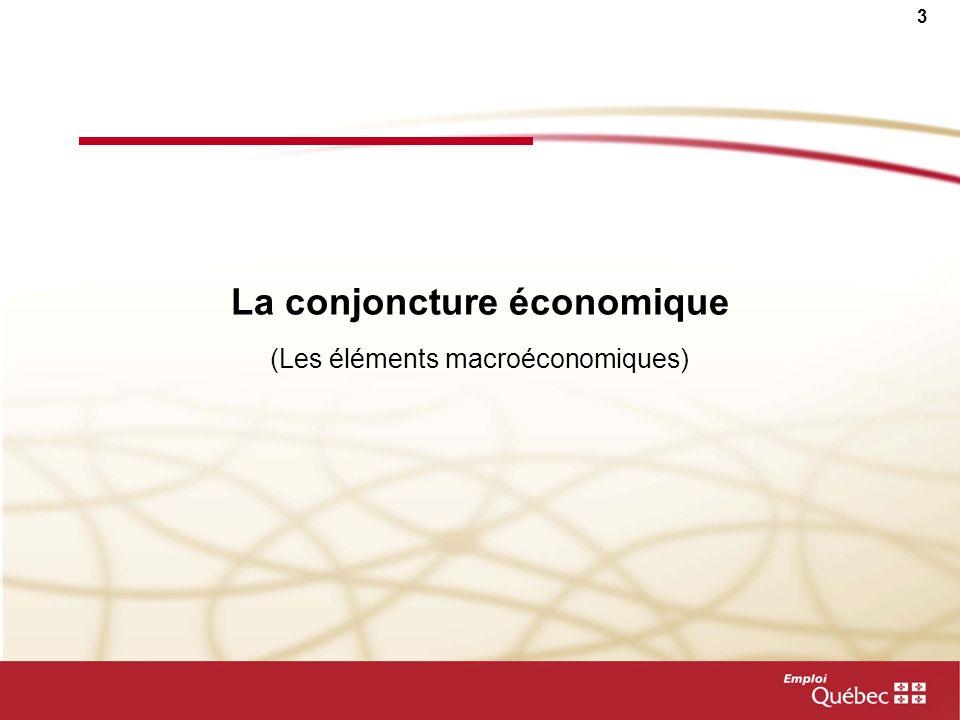 2 Plan de la présentation Le contexte économique La démographie et limpact sur le niveau de vie Les perspectives et les bassins de main- dœuvre