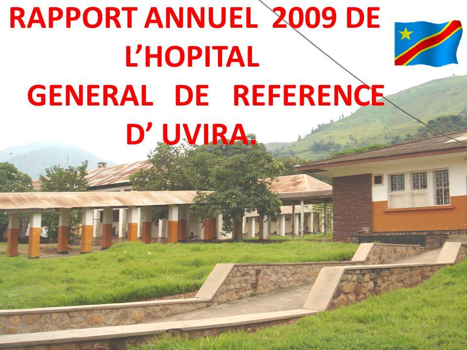 RAPPORT ANNUEL 2009 DE LHOPITAL GENERAL DE REFERENCE D UVIRA.