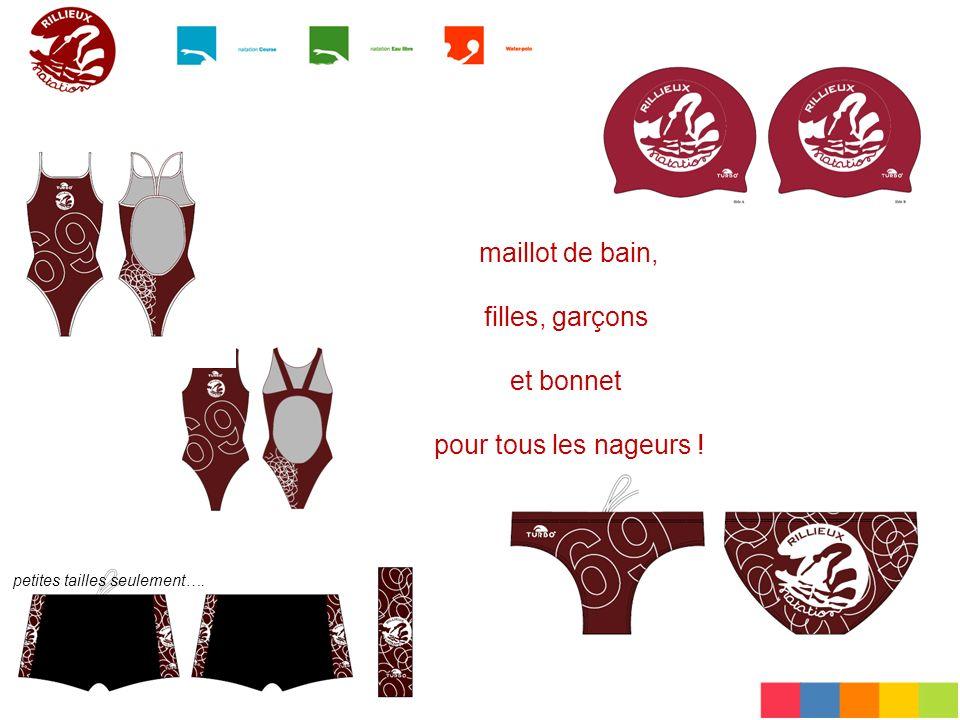 maillot de bain, filles, garçons et bonnet pour tous les nageurs ! petites tailles seulement….