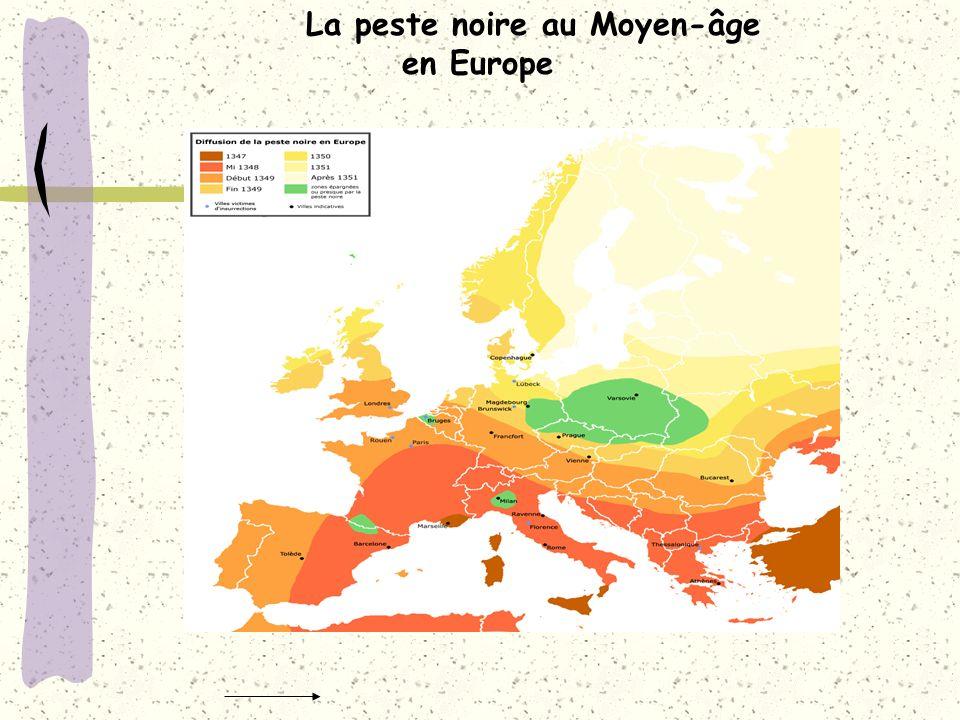 La peste noire au Moyen-âge en Europe