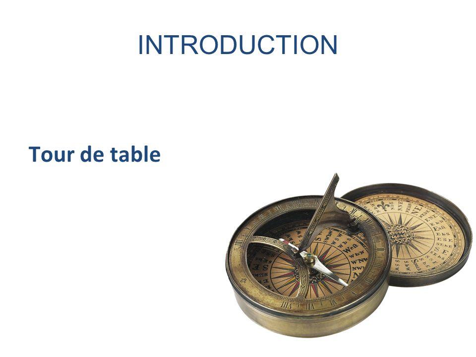 INTRODUCTION Tour de table