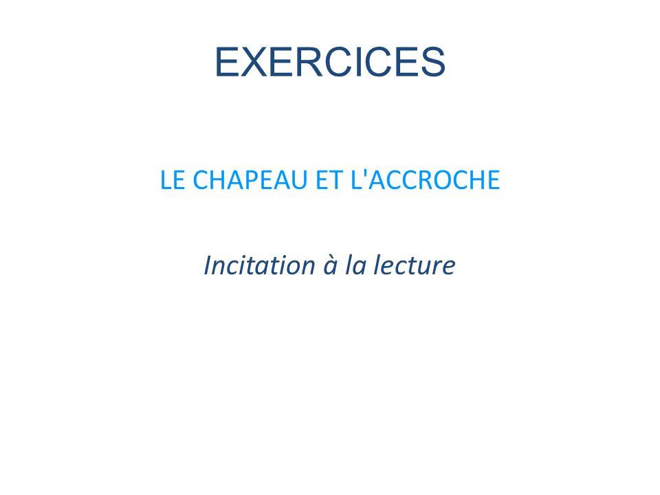 EXERCICES LE CHAPEAU ET L'ACCROCHE Incitation à la lecture