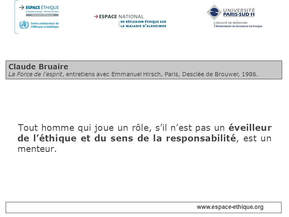 www.espace-ethique.org I - Cadre de léthique biomédicale