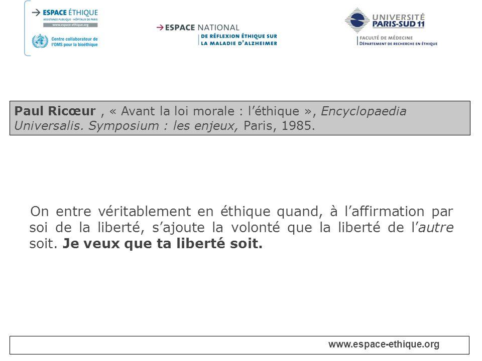 www.espace-ethique.org Principes Article 3.- Dignité humaine et droits de lhomme 1.