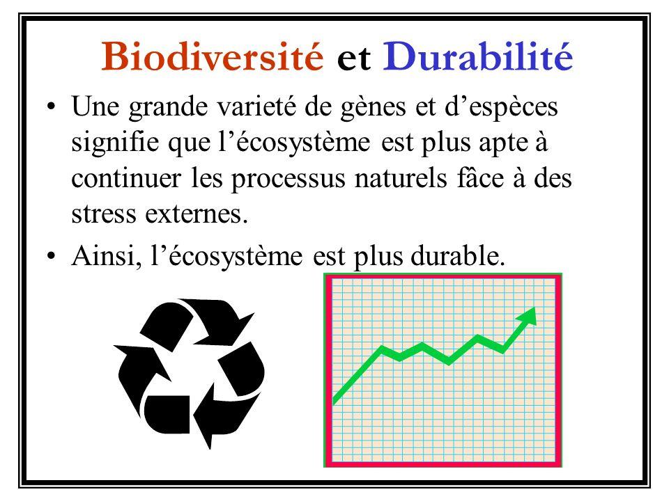 Le plus durable un écosystème, le mieux pour lenvironnement et les gens.
