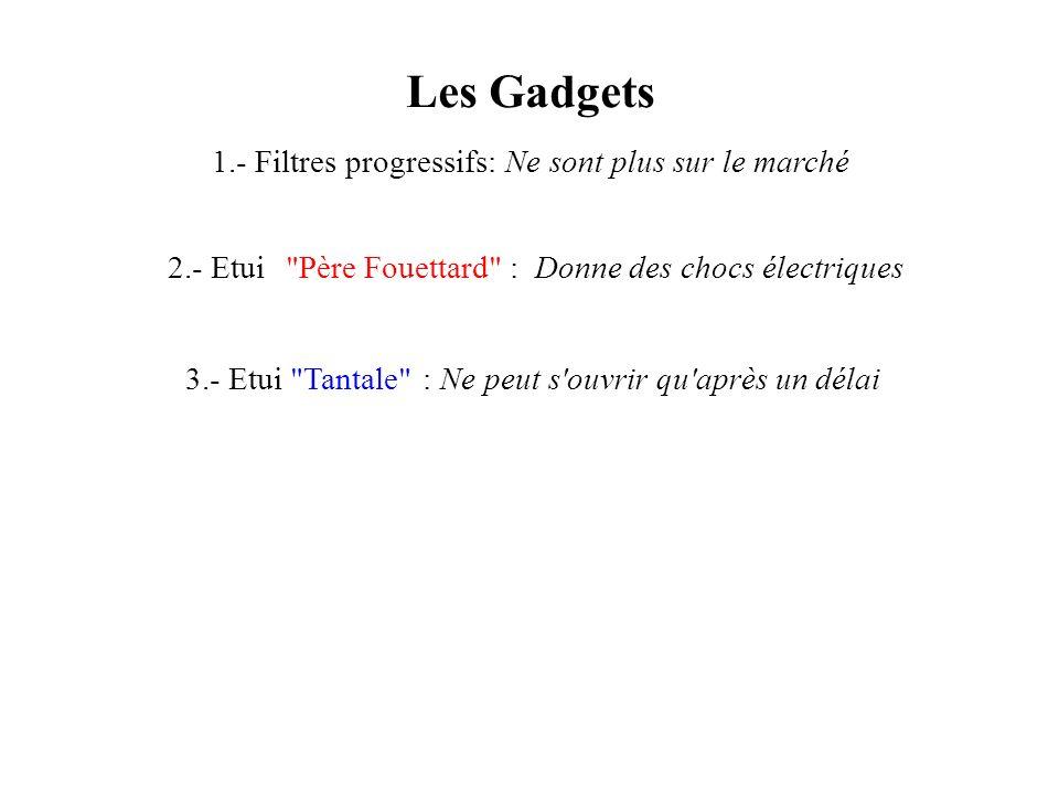 Les Gadgets 1.- Filtres progressifs:Ne sont plus sur le marché 3.- Etui
