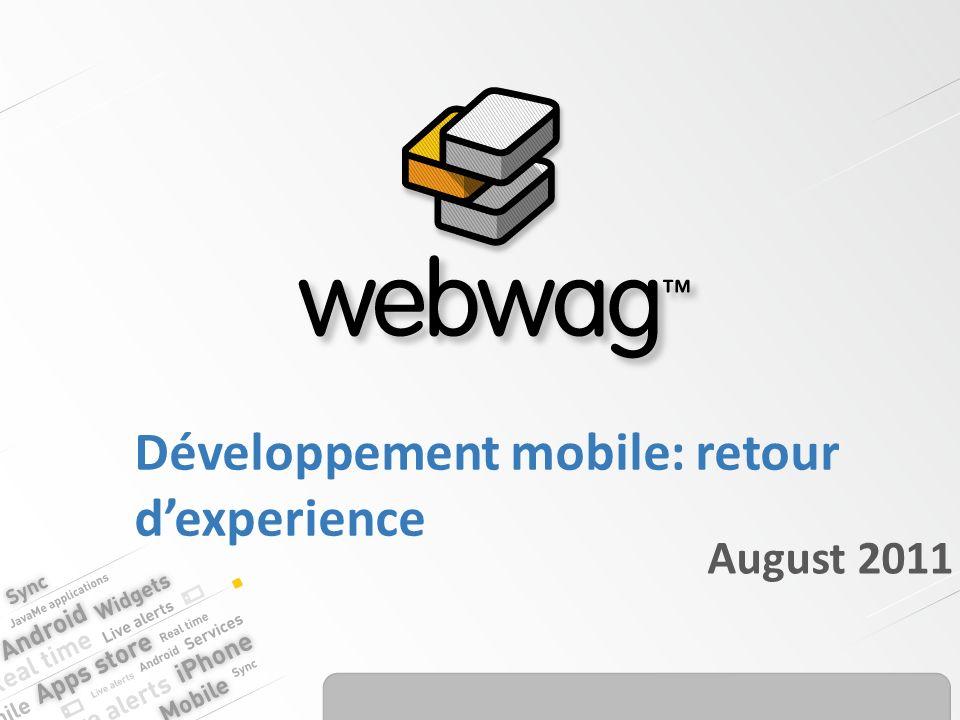 Développement mobile: retour dexperience August 2011