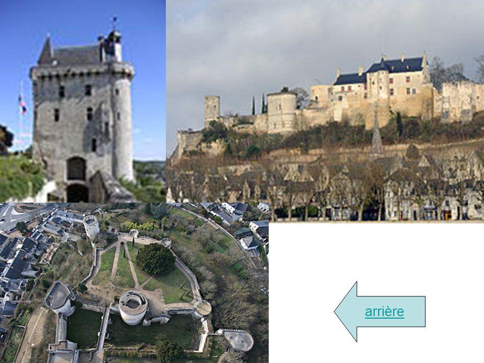 Château de Chinon La forteresse royale de Chinon, comme beaucoup de châteaux, est construite sur un éperon rocheux dominant la Vienne et la ville. Cet