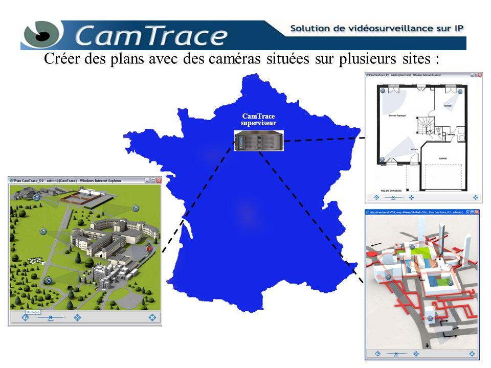 CamTrace superviseur Créer des plans avec des caméras situées sur plusieurs sites :