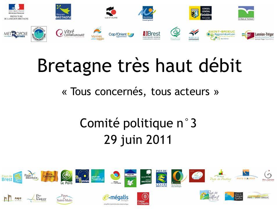 « Tous concernés, tous acteurs » Bretagne très haut débit Comité politique n°3 29 juin 2011