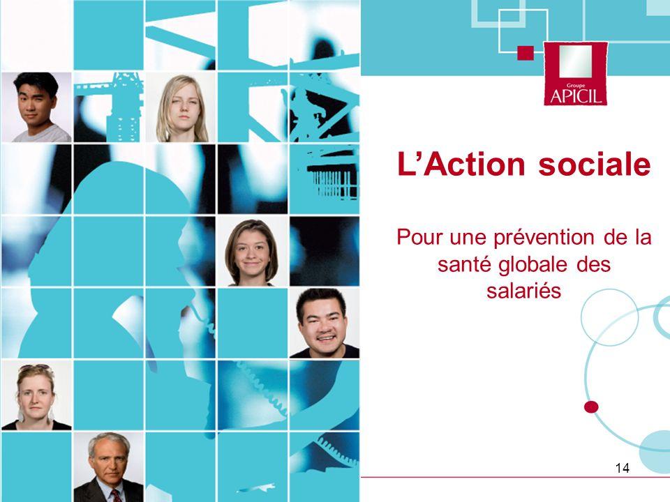 14 LAction sociale Pour une prévention de la santé globale des salariés