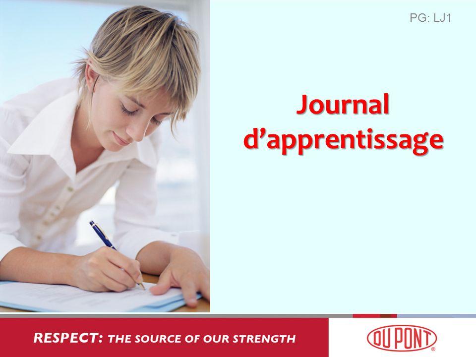 Journal dapprentissage PG: LJ1