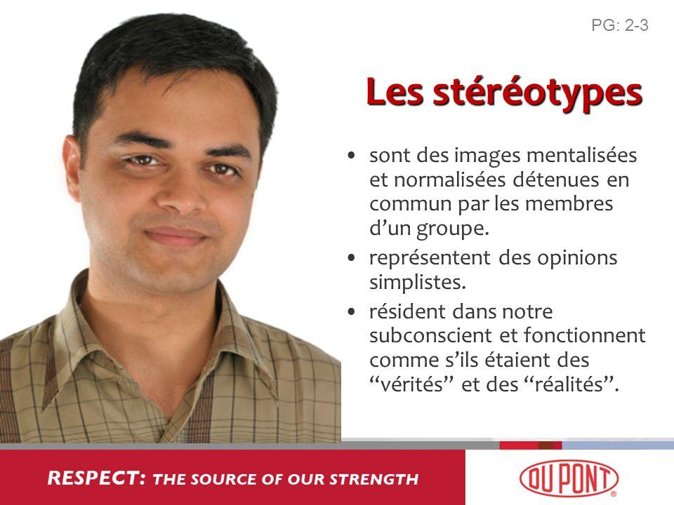 Les stéréotypes sont des images mentalisées et normalisées détenues en commun par les membres dun groupe. représentent des opinions simplistes. réside